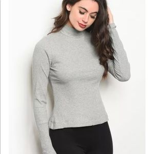 Gray Tie Back Sweater